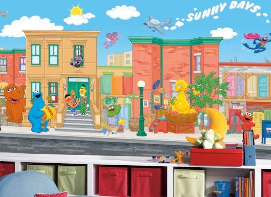 151 best images about decor kids murals decals on for Elmo wall mural