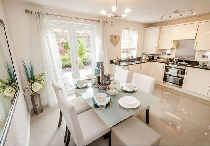 David Wilson Homes - The Larches (Offenham) - Interior Designed Kitchen/Dining Room