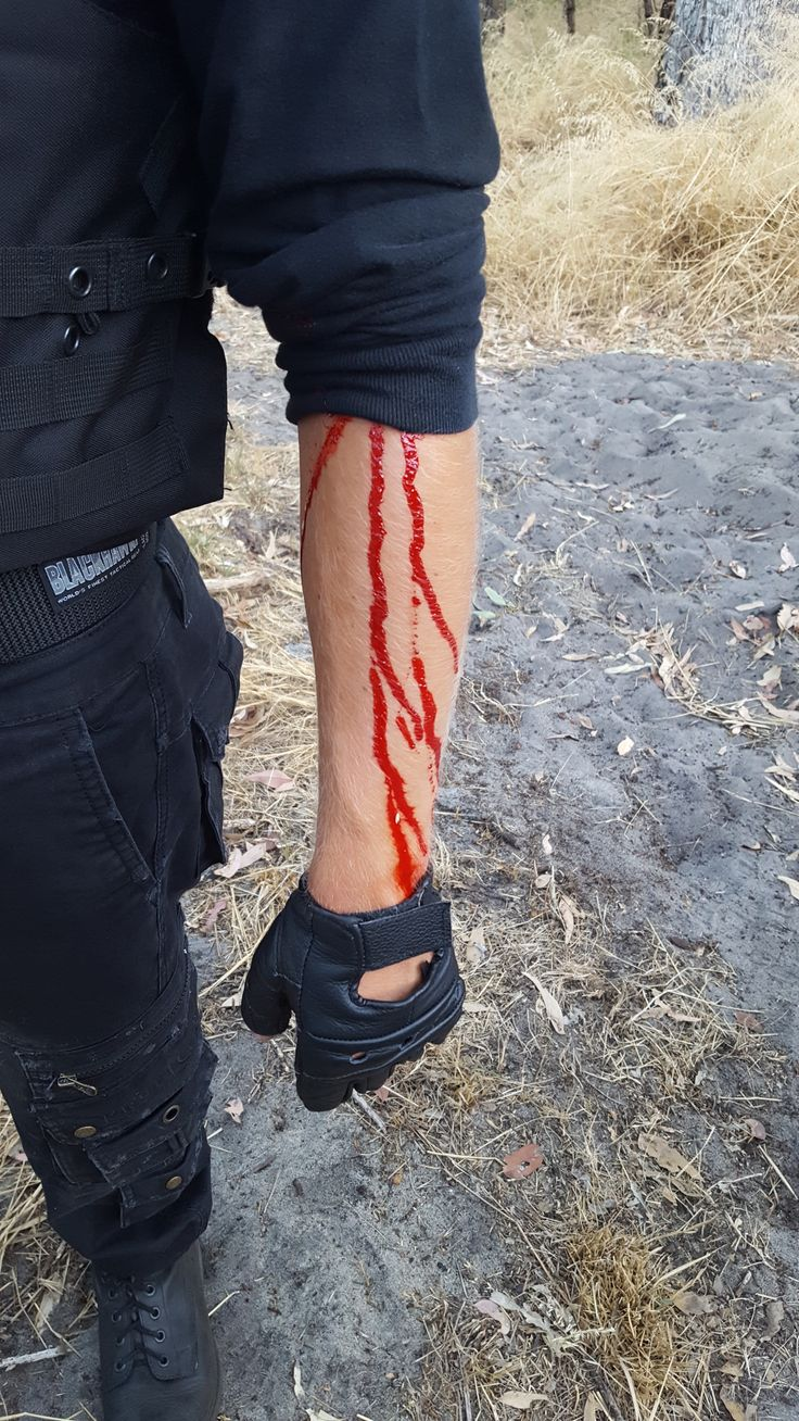 Special effects makeup on set for a film || blood from bullet || by Ashleigh Hunter
