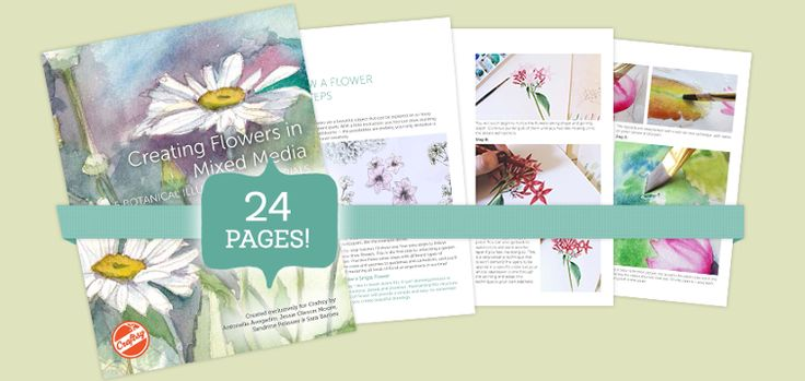 Creating Flowers in Mixed Media: 5 Botanical Tutorials is a free PDF guide available exclusively on Craftsy, featuring 24 pages packed with step-by-step mixed media tutorials plus expert tips and tricks. It's available for download instantly and can even be easily printed if you'd like. Enjoy it from the comfort of your home or on the go - it's yours forever!
