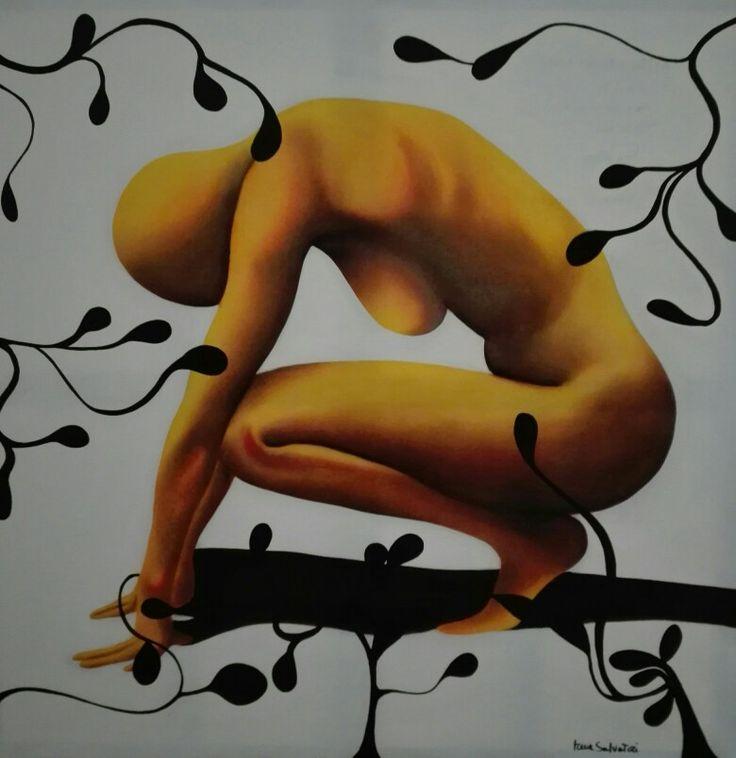 Dentro e fuori di me olio su tela #arte #design #colore #life #artecontemporanea #contemporaryart #stile