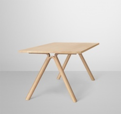 Split dining table