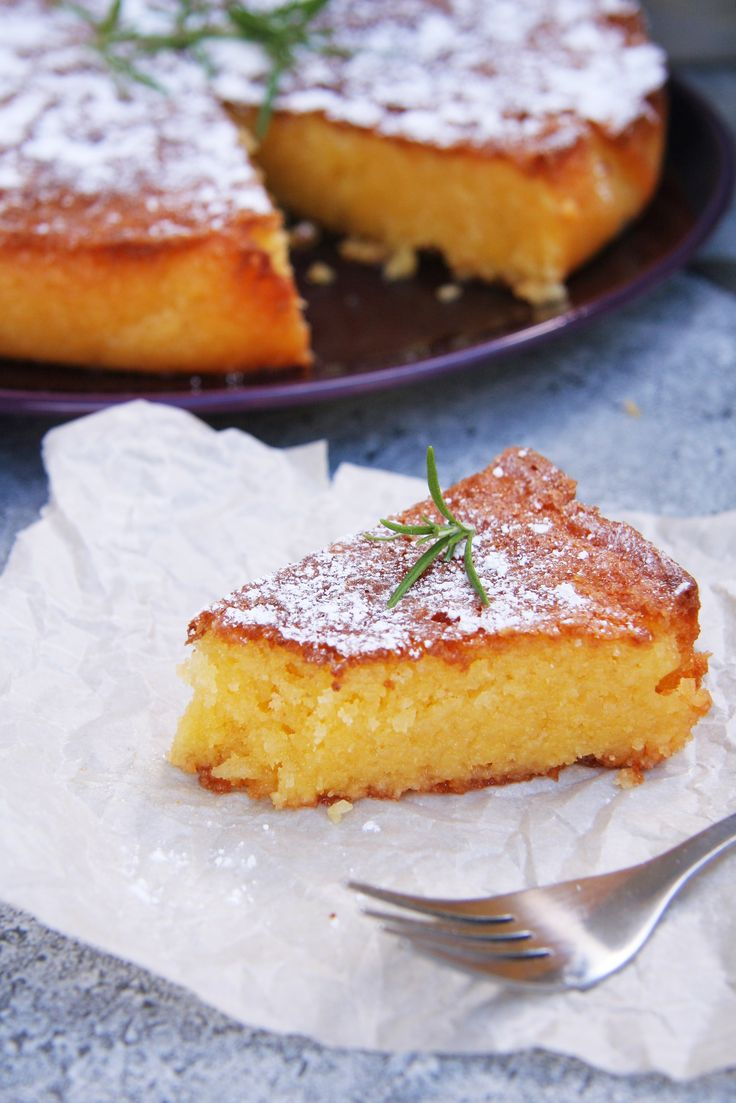 Rosemary Lemon Cornmeal Cake