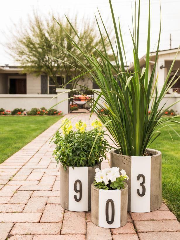 DIY Address Number Planters