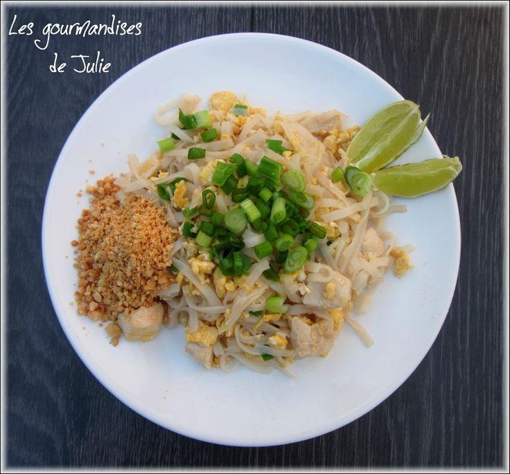 Chicken pad tha pad tha au poulet recette tha landaise cuisine thailandaise pinterest - Recette cuisine thailandaise ...