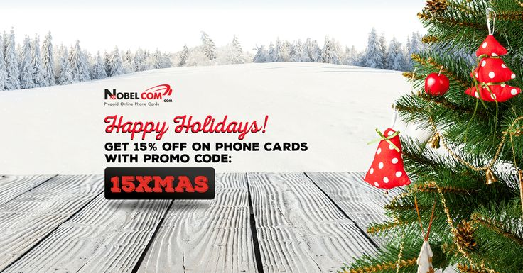 XMAS SALE: 15% OFF on phone cards throughout Jan 3rd, 2016. Use promo code 15XMAS at checkout.