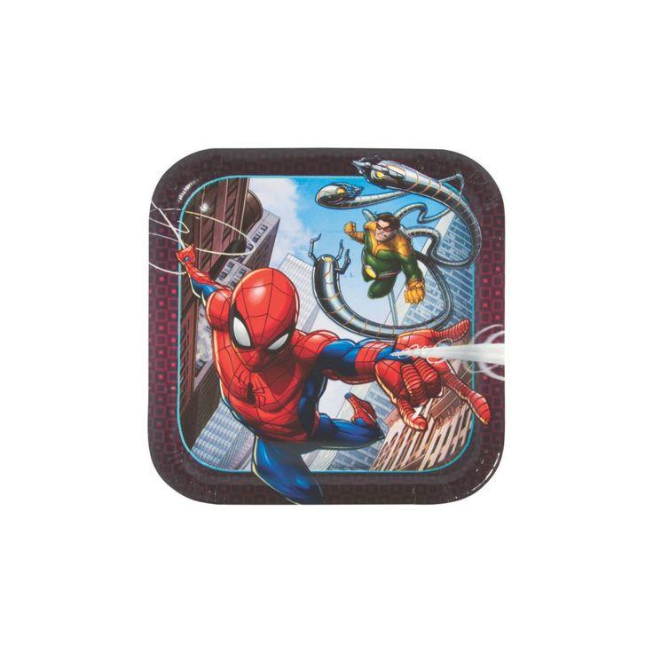 Ultimate Spider-Man(TM) Square Paper Dessert Plates