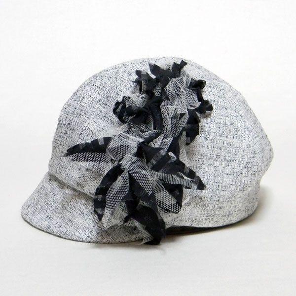 シーウィードキャス-ブラック   #ピーチブルーム帽子店 #Hat #帽子 #キャスケット