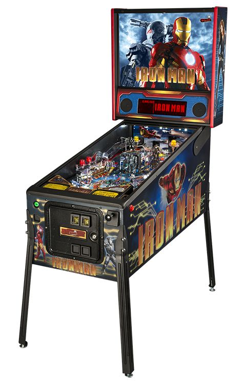 - Product Description - Product Specs - About Iron Man™ Pinball brings you action and adventure in the Super Hero™ Marvel style. Iron Man™ Pinball is a full-sized arcade pinball machine that provides