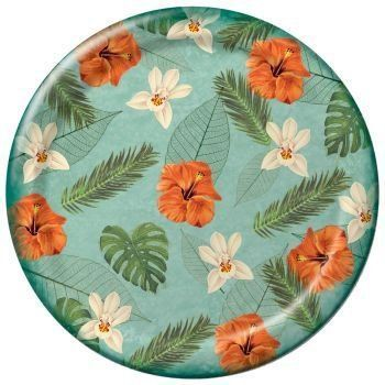 Tropical Palm 7-inch Paper Plates 8 Per Pack by Creative Converting. $2.99. Design is stylish and innovative. Satisfaction Ensured. 8 Per Pack. Manufactured to the Highest Quality.. Poly Coated. Creative Converting is a leading manufacturer and distributor of disposable tableware including high-fashion paper napkins plates cups and tablecovers in a variety of solid colors and designs appropriate for virtually any event