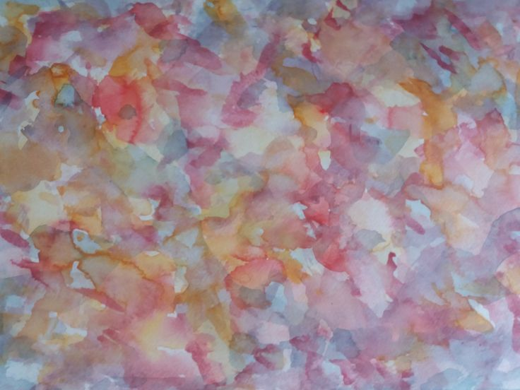 Abstract painting in aqvarell/Målning i akvarell av Ingela Lindgren/lifeartcommunication.com