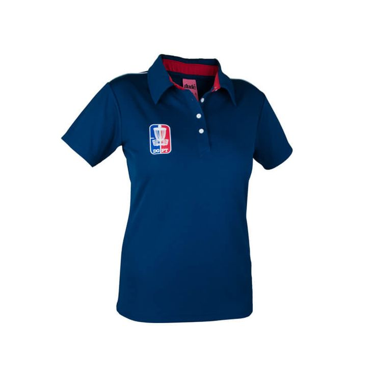 Ladies Disc Golf Apparel - PRO TOUR LADIES POLO  Whether you are on or off the course, you'll wear the Dude Pro Tour Polo with pride. Made from high quality cooling fabric, with high stand up collar for added sun protection. For more details, visit https://www.dudeclothing.com/collections/ladies/products/pro-tour-ladies-polo?variant=18330011461