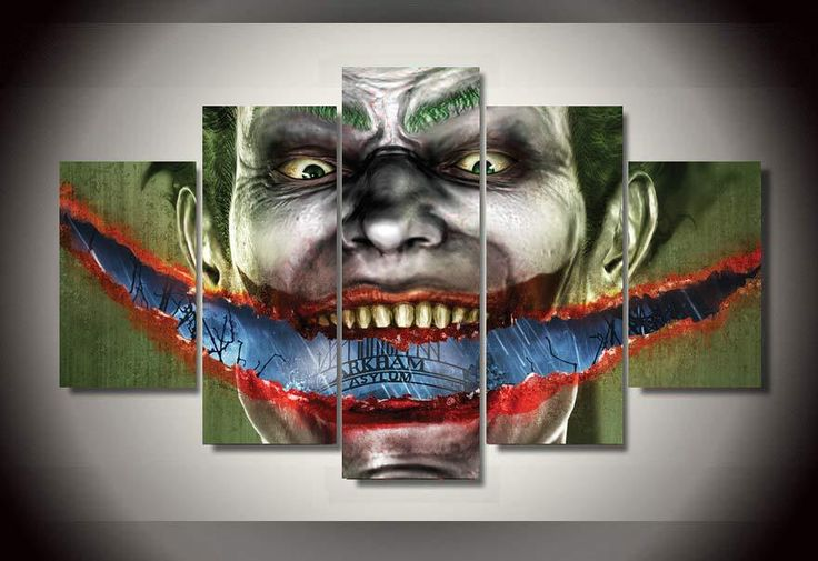 HD Printed arkham asylum joker picture Painting wall art room decor print poster picture canvas Free shipping/mvl-1237