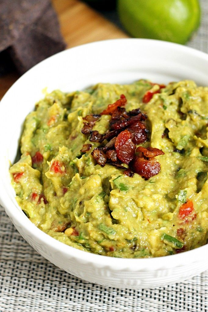 An incredible twist on Guacamole with crispy bacon and roasted garlic!! Delicious!!
