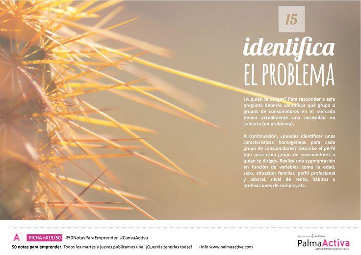 15/50 #50NotasParaEmprender IDENTIFICA EL PROBLEMA #CanvaActiva