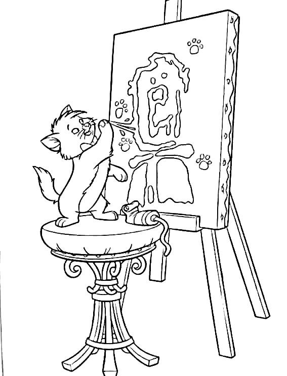 aristocats coloring pages make your own disney coloring book with thousands of coloring sheets - Aristocats Kittens Coloring Pages