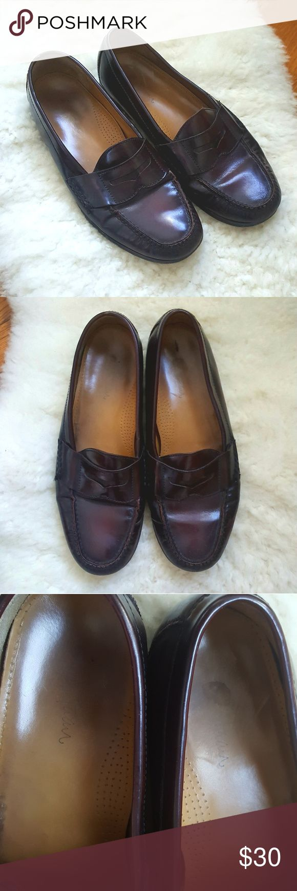 Men's Cole Haan penny loafers 11D, good condition Cole Haan loafers in decent condition- they've definitely been worn but they have more life in them. Minor scratches to leather on outside sides- represented in pictures but there may be a few more I missed. Inside shows wear as shown. Non-smoking home. Cole Haan Shoes Loafers & Slip-Ons