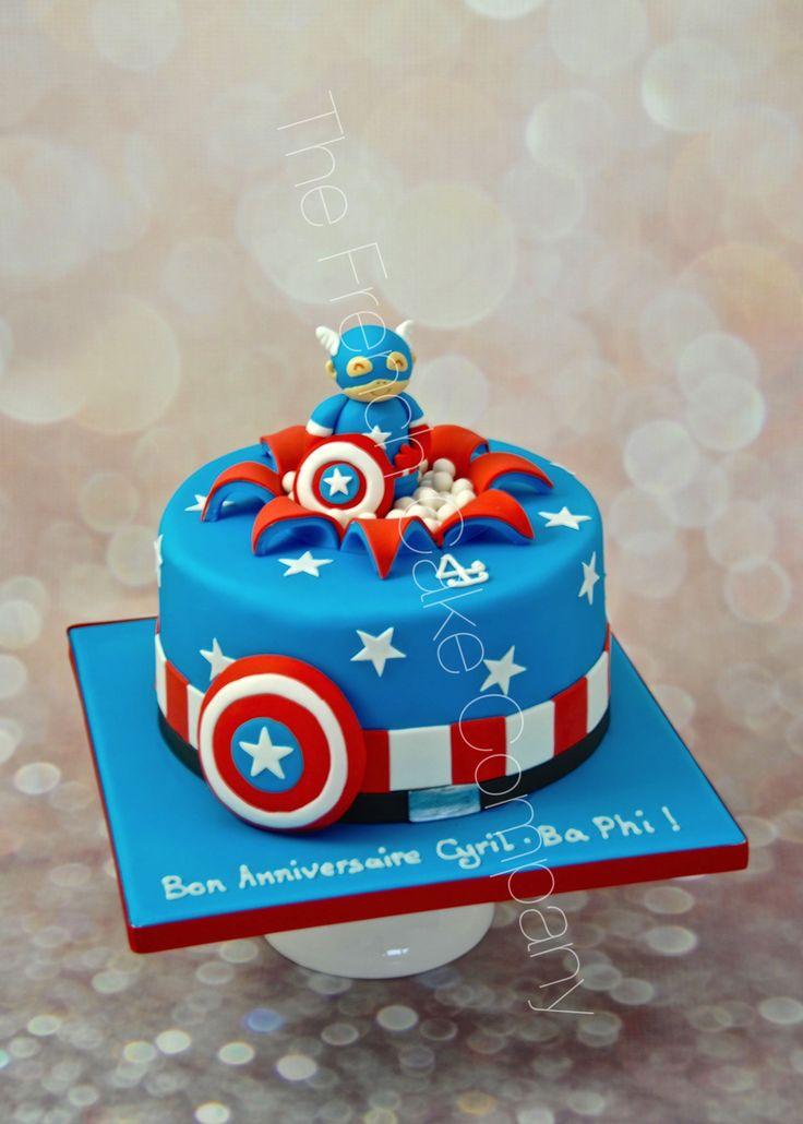 gteau danniversaire dcor captain america pour les petits cake design belgique - Gateau Anniversaire Super Heros