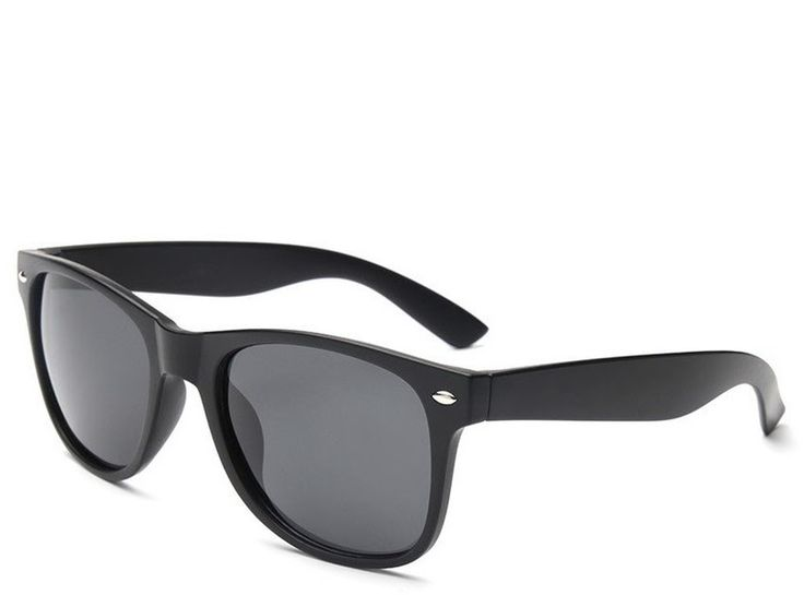 Moreno Kacamata Hitam Retro Style Women and Man Outdoor Sunglasses - Hitam