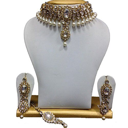 Indian Bollywood Fashionable CZ White Pearls Ethnic Gold ... https://www.amazon.com/dp/B01IZGQUBI/ref=cm_sw_r_pi_dp_x_cUDzzb81FWY3W