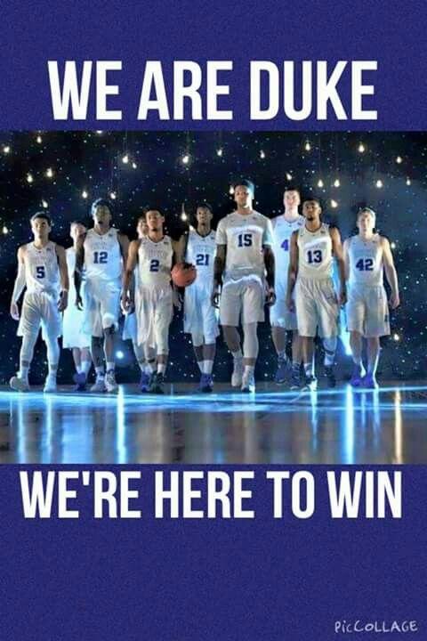Duke Basketball. Miss all their starters!
