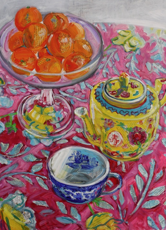Polly Jones - I want to be able to paint like that...it is so cheerful...
