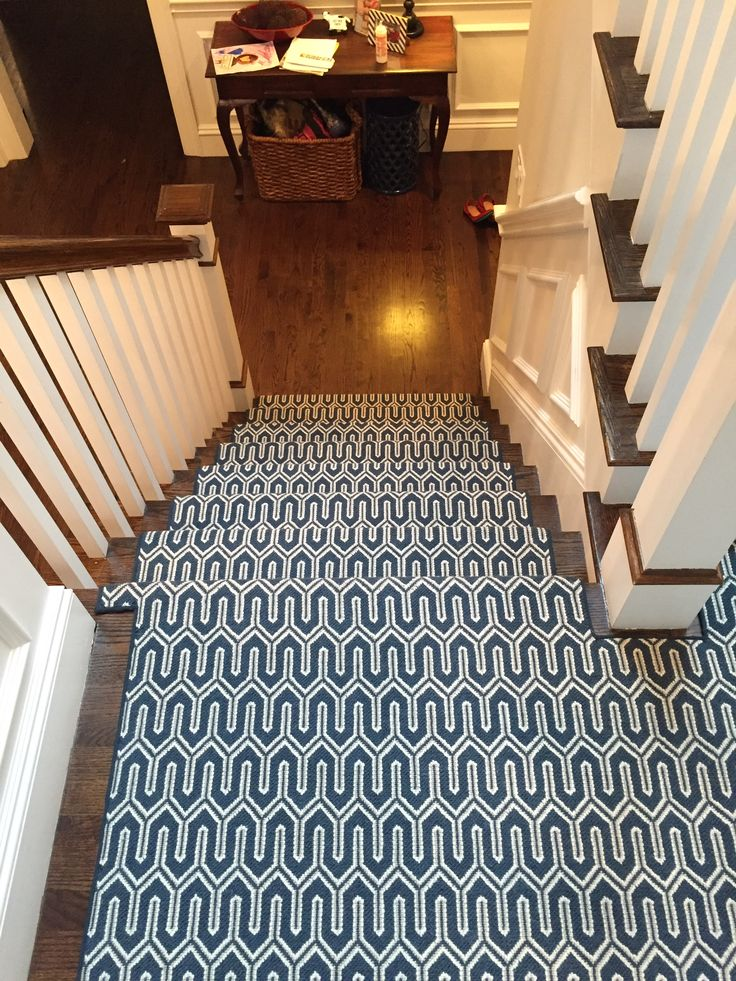 Navy Blue Stair Runner Nautical Inspired Navy Blue