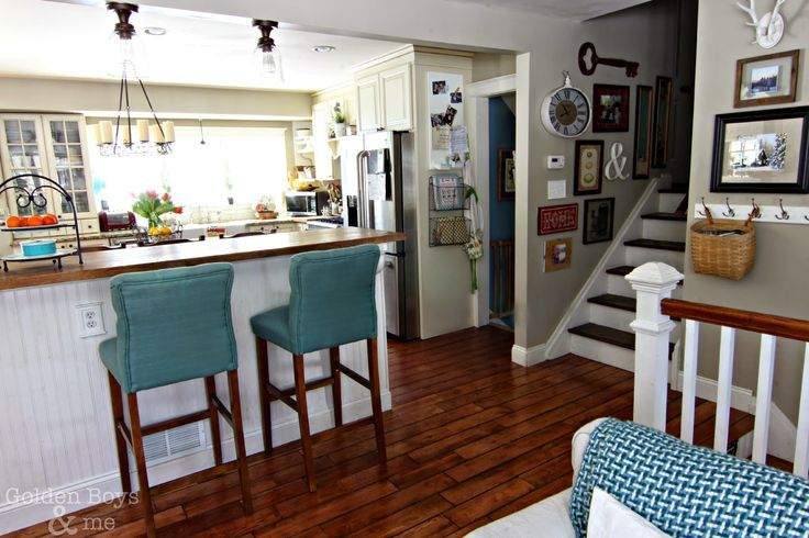 Spring kitchen spring split level home and open floor for Split level open floor plan remodel