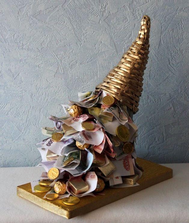 Новогодние букеты из конфет. Новогодний декор - идеи. Часть 1