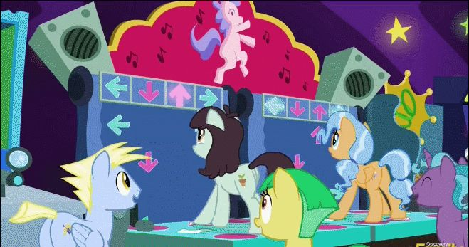 mylittleponygames:  So with four hooves ponies are totally amazing at DDR right? Image Source: http://ift.tt/2cfaAxq  Follow My Little Pony Games for new games fan art and memes daily!