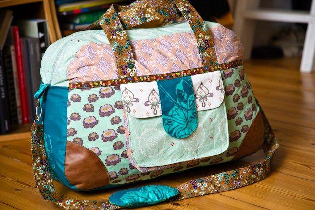 Reisetasche nähen nach Schnittmuster von kibadoo