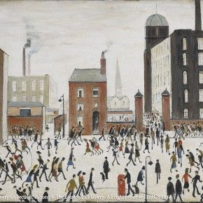 L. S. Lowry, Mill Scene, 1965; Oil on canvas, 49.5x59.5cm