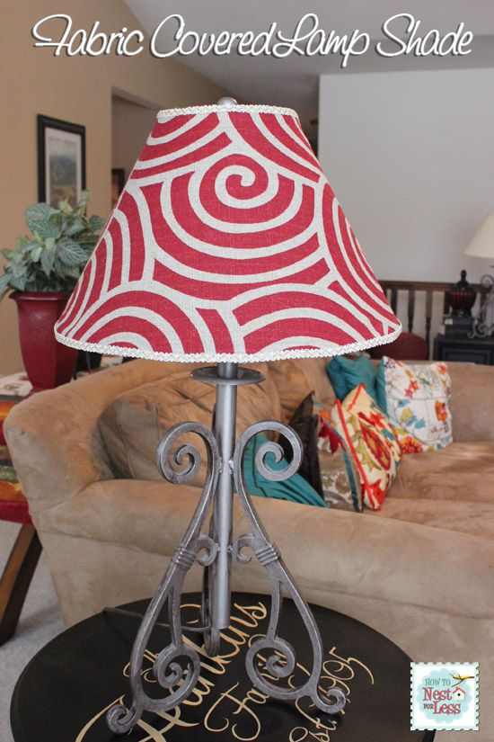 Lamp shade recovered with fabric - easy and simply!