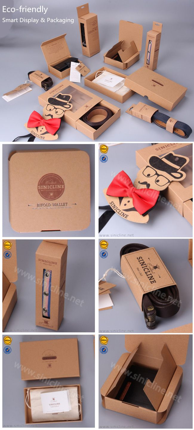 Sinicline new design: kraft paper packaging series.   #bowtie #belt #wallet