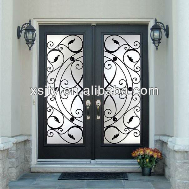 68 best wrought iron gates images on pinterest windows for Decorative main door designs
