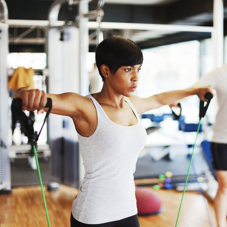 Resistance bands and cords are especially great for training because they're so easily portable. Toting dumbbells is an obvious no-go, but throwing a rubber resistance band in your bag is simple—and the exercises you can use it for are versatile. From barre moves that lengthen the lower body to curls that target the arms, resistance bands can be used for almost any type of activity and muscle group.