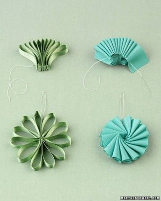 Ribbon Ornaments - All you need is a needle and thread to transform ribbon into elegant ornaments or gift toppers.