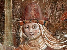Tacuinum Medieval: The pointed hat womenswear / The bycocket in women's garb