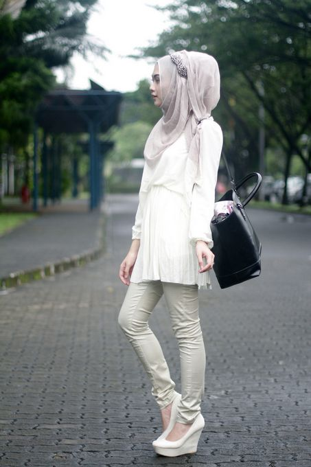 indah nada puspita -- street hijab outfit