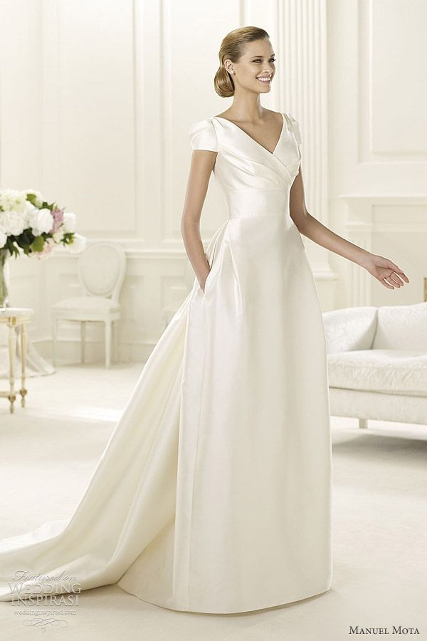 Classy --- love the top but not so much the bottom.  manuel mota for pronovias wedding dresses 2013 gabina / MANUEL MOTA ♥