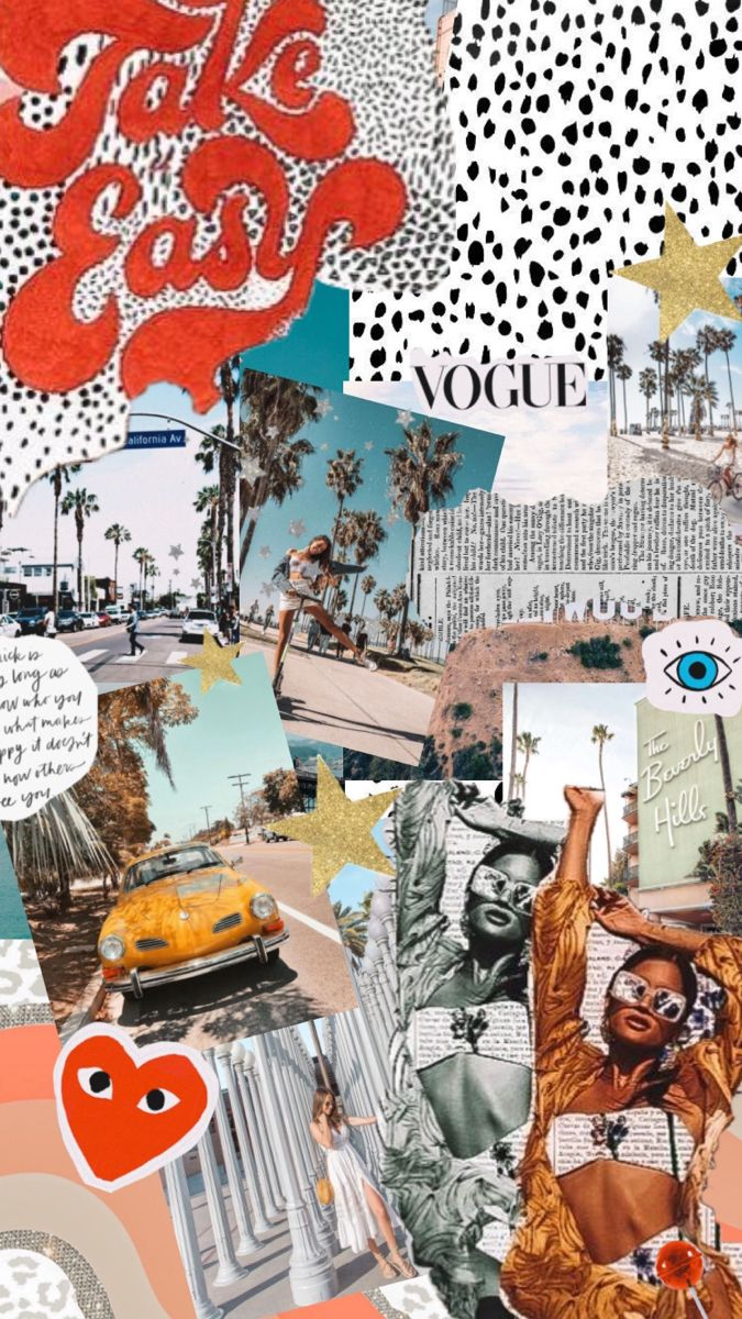 Pin By Lovely Blossom Girl On Good Vibes Collage Background Preppy Wallpaper Iconic Wallpaper