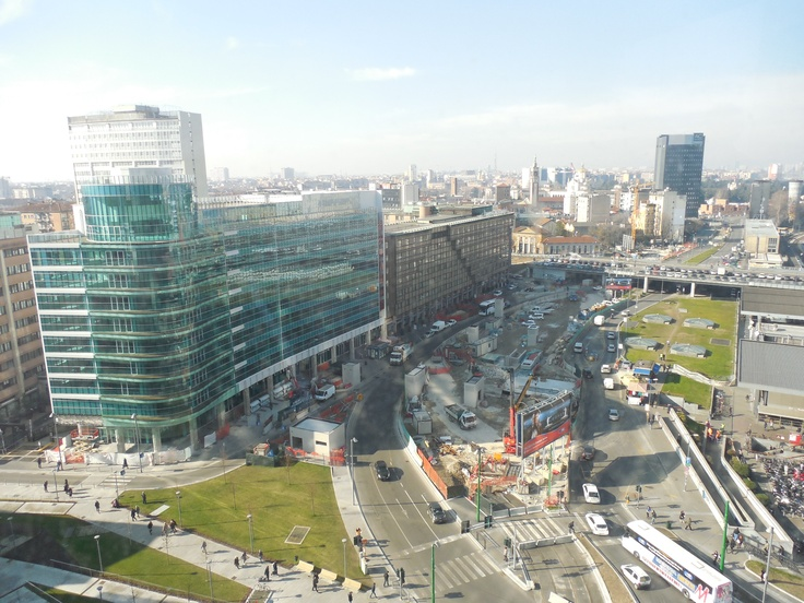 Scene from the top of Uni Center - one of Milan's newest skyscrapers and part of construction effort underway for Expo 2015