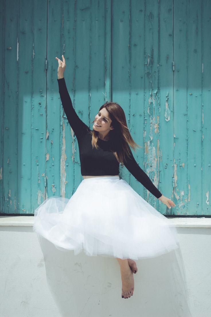 #summer #fashion #smile #girl #tulle #skirt