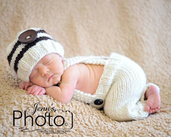 Newborn Knit Pants Newborn Knit Hat  baby pose
