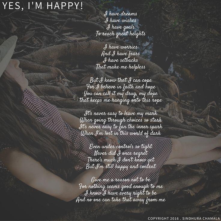 Yes, I'm Happy. #Poem #Poetry #Happy #Joy #Women #Happiness