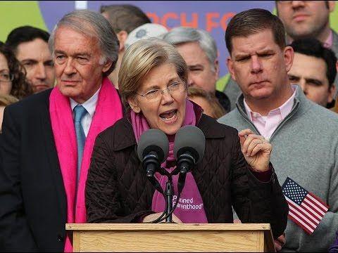 Sen Elizabeth Warren speech at Womens Anti-Trump march (Full Speech)