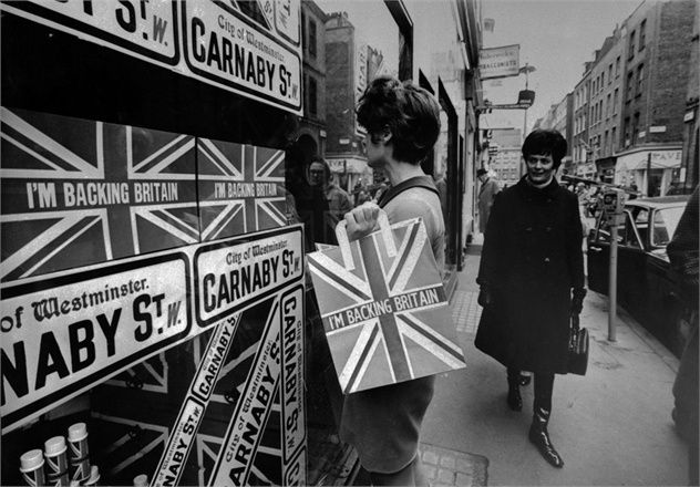 Anglophilia •~• I'm Backing Britain, Carnaby Street, London, 1968