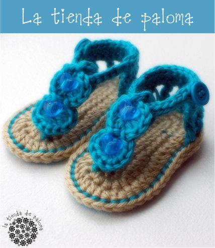 Crochet gladiator baby sandals