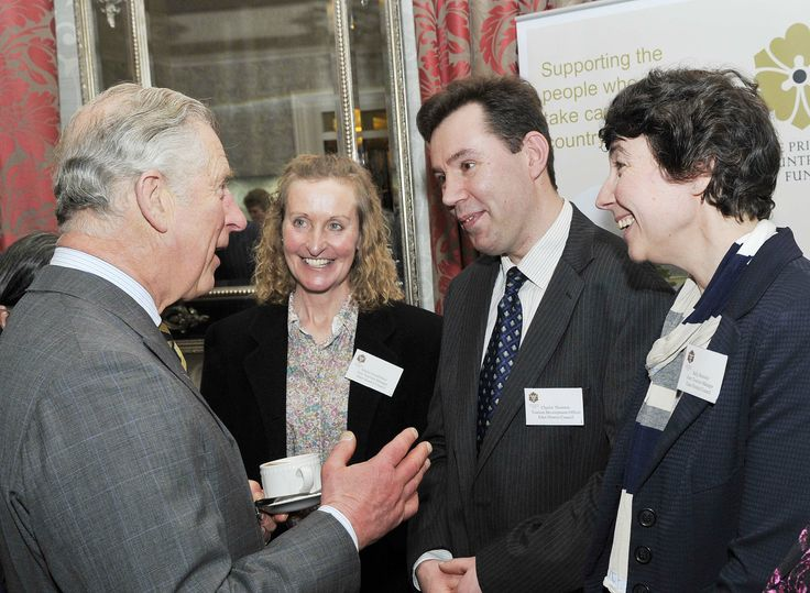Prince Charles chats to The Eden Tourism Team 9th April 2014 at The George Hotel, Penrith for the launch of the Prince's Countryside Tourism Initiative. (Photo courtesy of Fred Wilson)