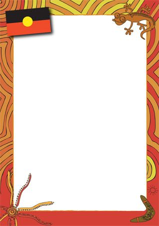 ABORIGINAL themed notepaper @ earlylearninghq